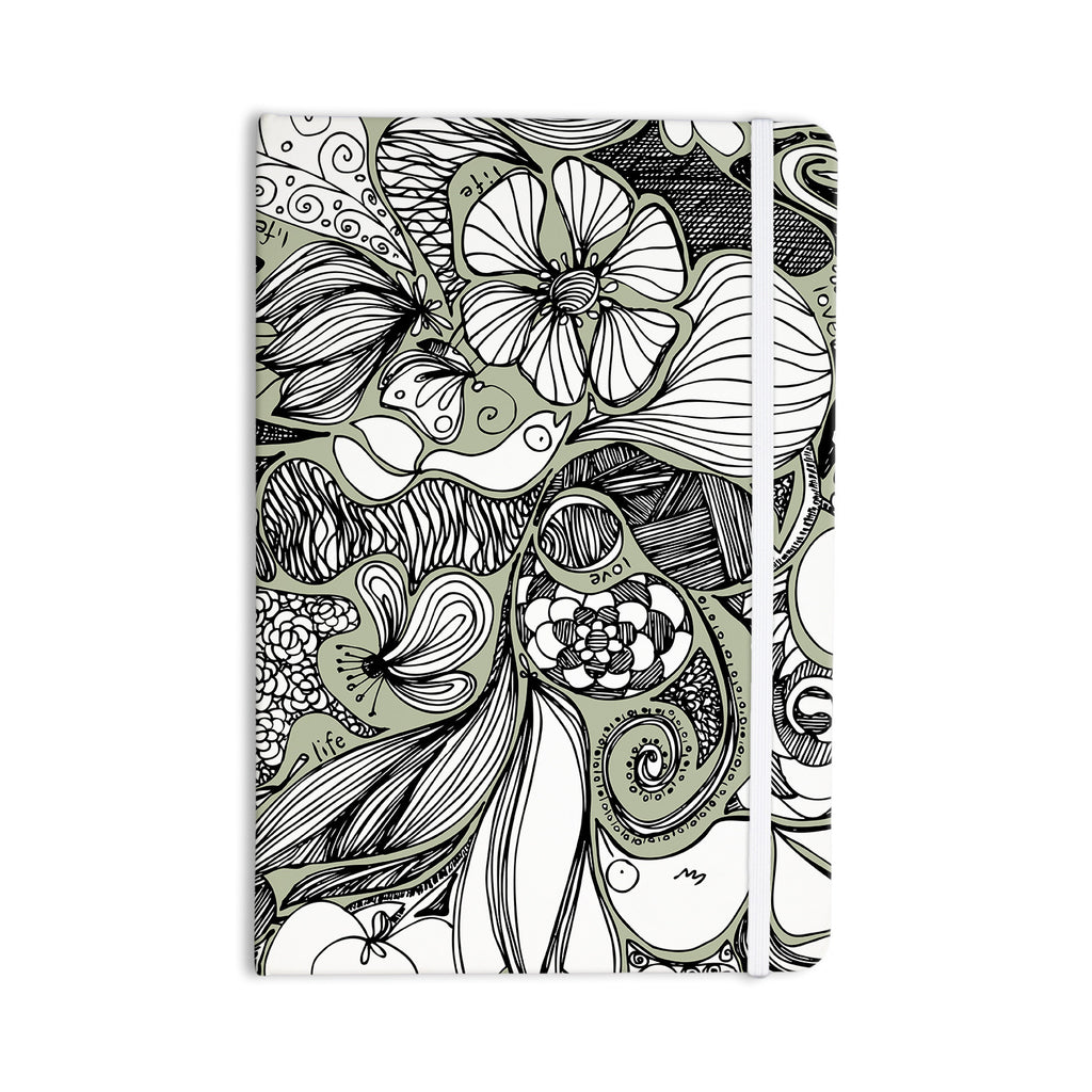 "Anchobee ""Doodle Dos"" Gray Green Everything Notebook - KESS InHouse  - 1"