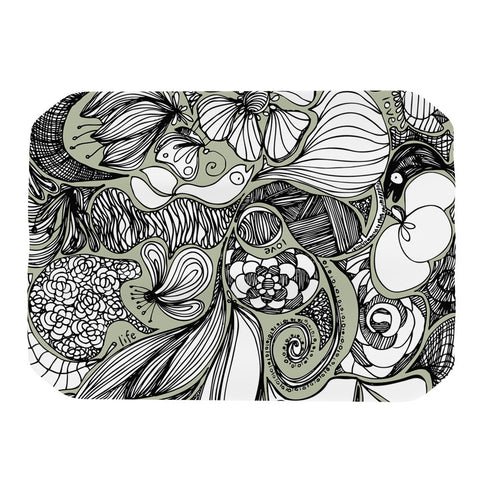 "Anchobee ""Doodle Dos"" Gray Green Place Mat - KESS InHouse"