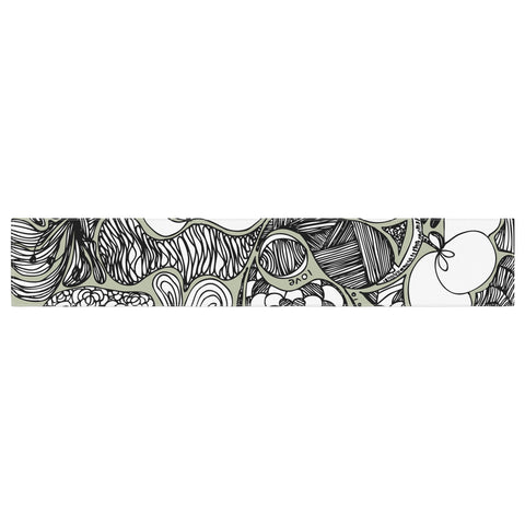 "Anchobee ""Doodle Dos"" Gray Green Table Runner - KESS InHouse  - 1"