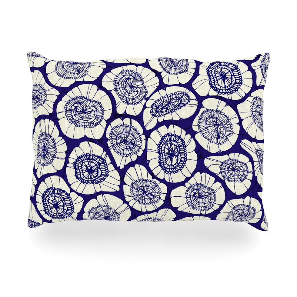 "Anchobee ""Bahar"" Blue Tan Oblong Pillow - KESS InHouse"