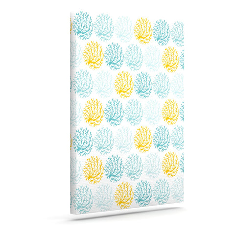 "Anchobee ""Coralina"" Teal Yellow Canvas Art - KESS InHouse  - 1"