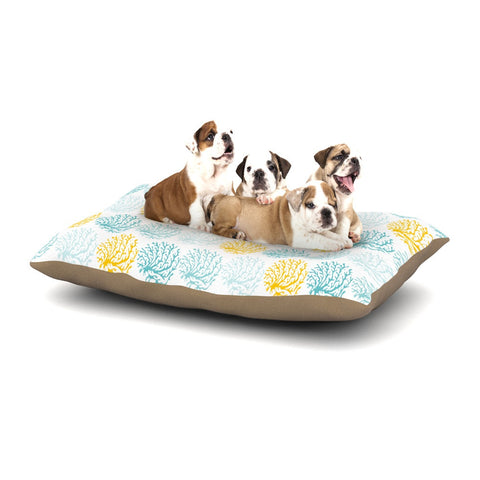 "Anchobee ""Coralina"" Teal Yellow Dog Bed - KESS InHouse  - 1"