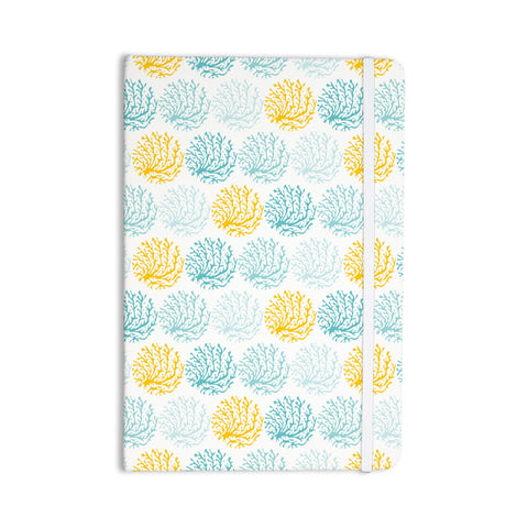 "Anchobee ""Coralina"" Teal Yellow Everything Notebook - KESS InHouse  - 1"