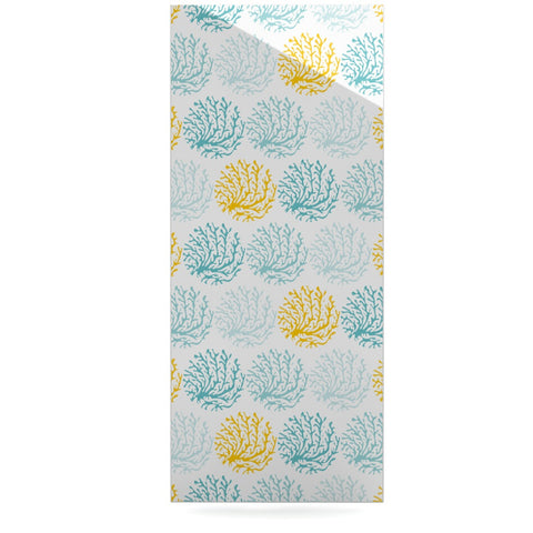 "Anchobee ""Coralina"" Teal Yellow Luxe Rectangle Panel - KESS InHouse  - 1"