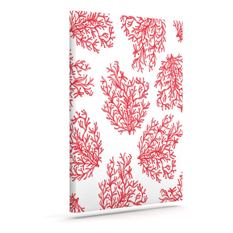 "Anchobee ""Coral"" Red White Canvas Art - Outlet Item"