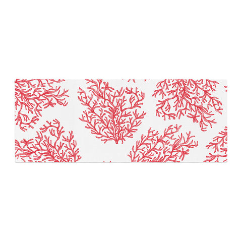 "Anchobee ""Coral"" Red White Bed Runner - KESS InHouse"