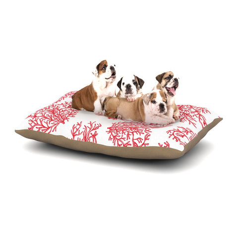 "Anchobee ""Coral"" Red White Dog Bed - KESS InHouse  - 1"