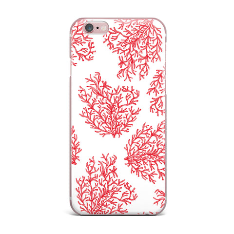 "Anchobee ""Coral"" Red White iPhone Case - KESS InHouse"