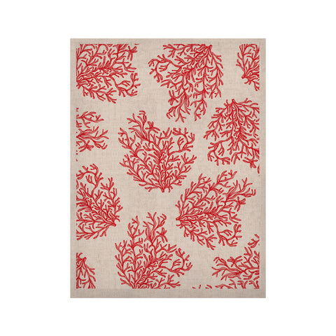 "Anchobee ""Coral"" Red White KESS Naturals Canvas (Frame not Included) - KESS InHouse  - 1"