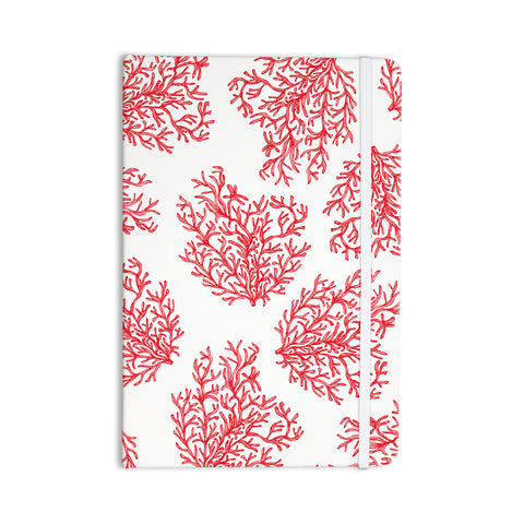 "Anchobee ""Coral"" Red White Everything Notebook - KESS InHouse  - 1"