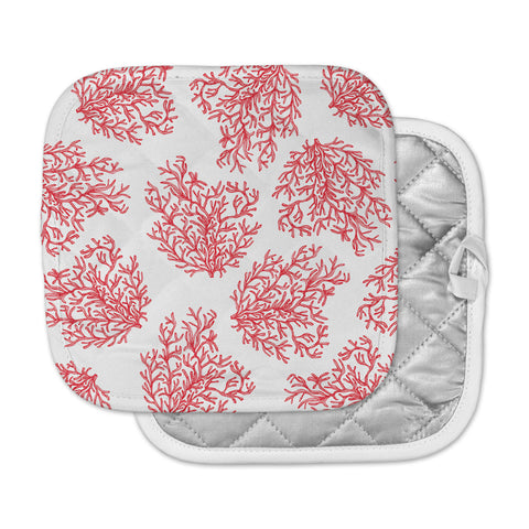 "Anchobee ""Coral"" Red White Pot Holder"