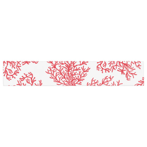 "Anchobee ""Coral"" Red White Table Runner - KESS InHouse  - 1"