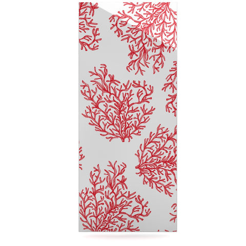 "Anchobee ""Coral"" Red White Luxe Rectangle Panel - KESS InHouse  - 1"
