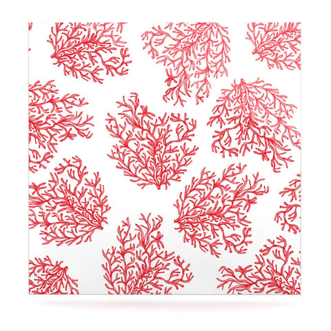 "Anchobee ""Coral"" Red White Luxe Square Panel - KESS InHouse  - 1"