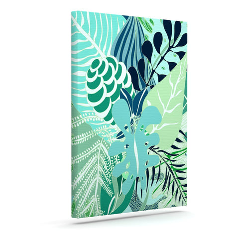 "Anchobee ""Giungla"" Green Floral Canvas Art - KESS InHouse  - 1"