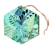 "Anchobee ""Gungla"" Green Floral Hexagon Holiday Ornament"