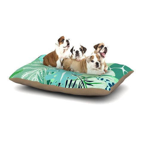 "Anchobee ""Giungla"" Green Floral Dog Bed - KESS InHouse  - 1"