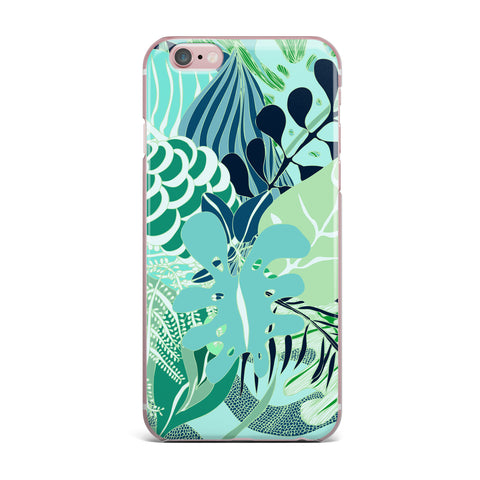 "Anchobee ""Giungla"" Green Floral iPhone Case - KESS InHouse"