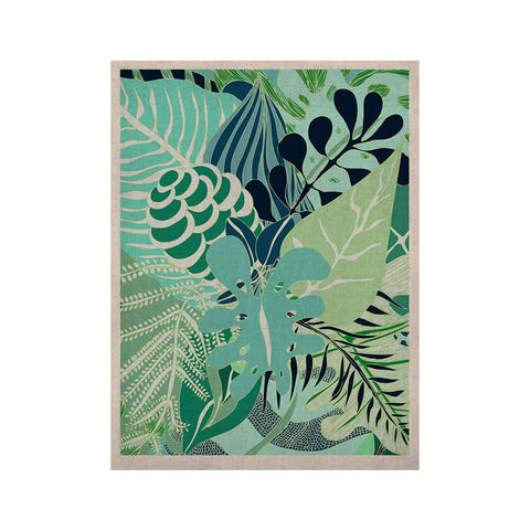 "Anchobee ""Giungla"" Green Floral KESS Naturals Canvas (Frame not Included) - KESS InHouse  - 1"