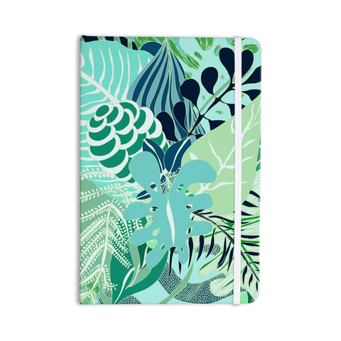 "Anchobee ""Giungla"" Green Floral Everything Notebook - KESS InHouse  - 1"
