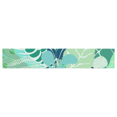"Anchobee ""Giungla"" Green Floral Table Runner - KESS InHouse  - 1"