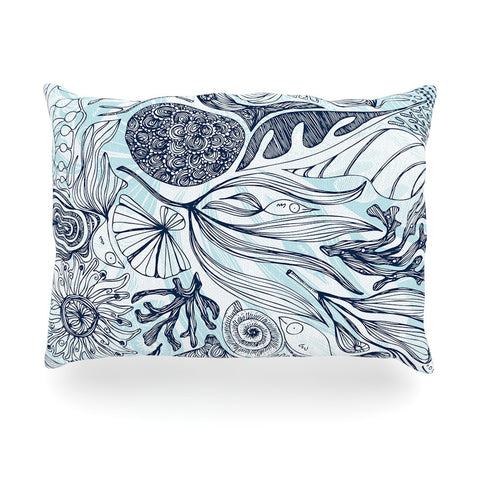 "Anchobee ""Marina"" Blue Aqua Oblong Pillow - KESS InHouse"