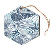 "Anchobee ""Marina"" Blue Aqua Hexagon Holiday Ornament"