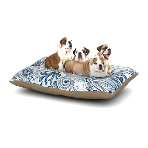 "Anchobee ""Marina"" Blue Aqua Dog Bed - KESS InHouse  - 1"