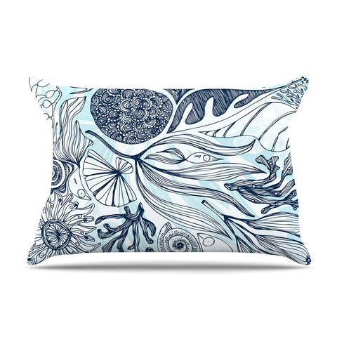 "Anchobee ""Marina"" Blue Aqua Pillow Sham - KESS InHouse  - 1"