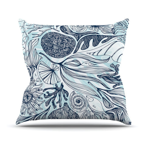 "Anchobee ""Marina"" Blue Aqua Outdoor Throw Pillow - KESS InHouse  - 1"