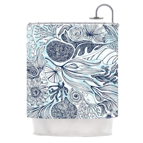 "Anchobee ""Marina"" Blue Aqua Shower Curtain - KESS InHouse"