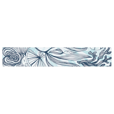 "Anchobee ""Marina"" Blue Aqua Table Runner - KESS InHouse  - 1"