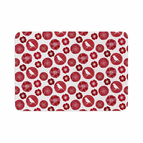 "Anchobee ""Lucrezia"" Red Pattern Memory Foam Bath Mat - KESS InHouse"