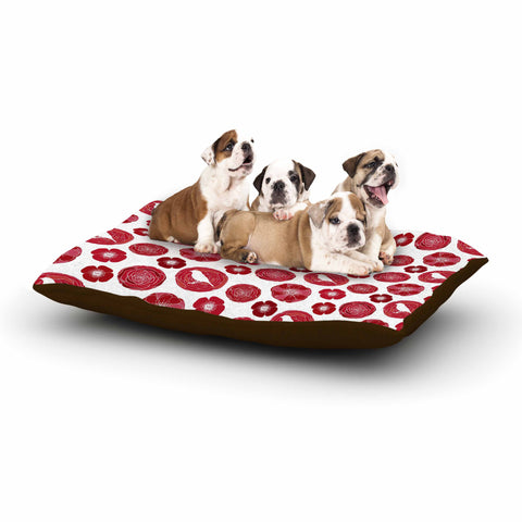 "Anchobee ""Lucrezia"" Red Pattern Dog Bed - KESS InHouse  - 1"
