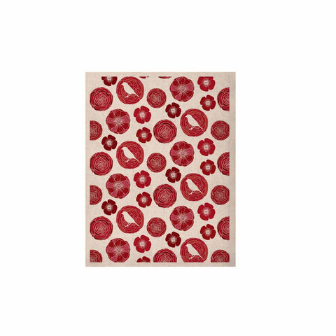 "Anchobee ""Lucrezia"" Red Pattern KESS Naturals Canvas (Frame not Included) - KESS InHouse  - 1"