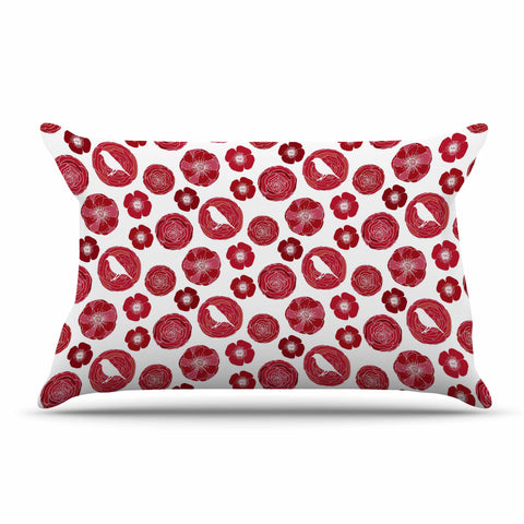 "Anchobee ""Lucrezia"" Red Pattern Pillow Sham - KESS InHouse  - 1"