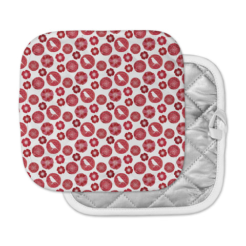 "Anchobee ""Lucrezia"" Red Pattern Pot Holder"