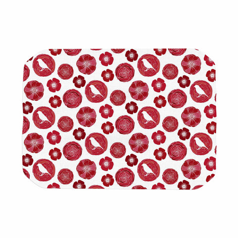 "Anchobee ""Lucrezia"" Red Pattern Place Mat - KESS InHouse"