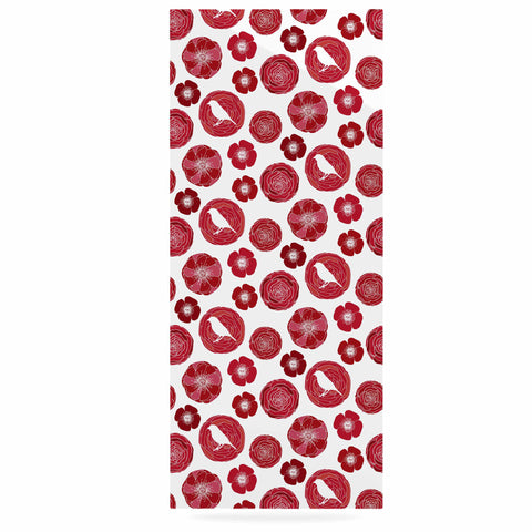 "Anchobee ""Lucrezia"" Red Pattern Luxe Rectangle Panel - KESS InHouse  - 1"