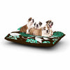 "Amy Reber ""Bold Relief"" Green Brown Dog Bed - KESS InHouse  - 1"