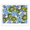 "Amy Reber ""Blue Dahlias"" Green Floral Fine Art Gallery Print - KESS InHouse"