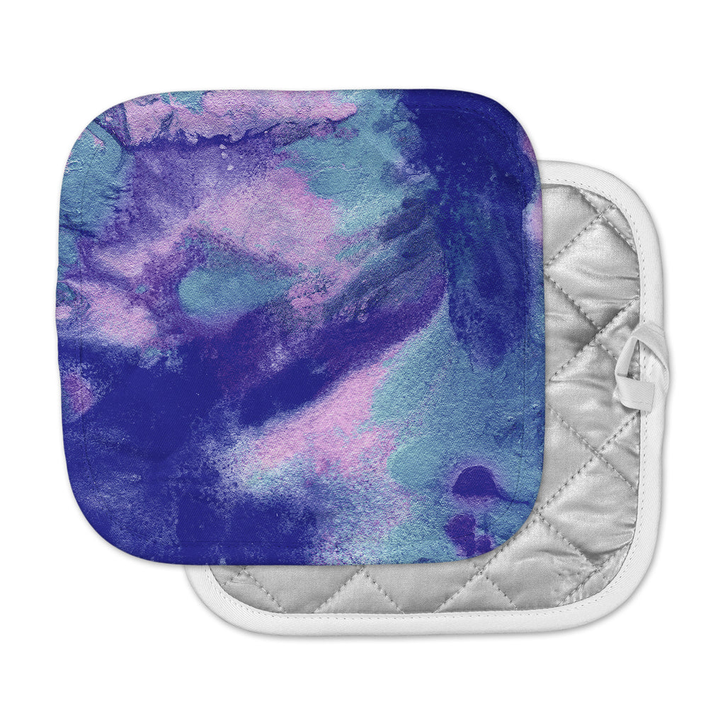 "Ashley Rice ""AC4"" Abstract Blue Pot Holder"