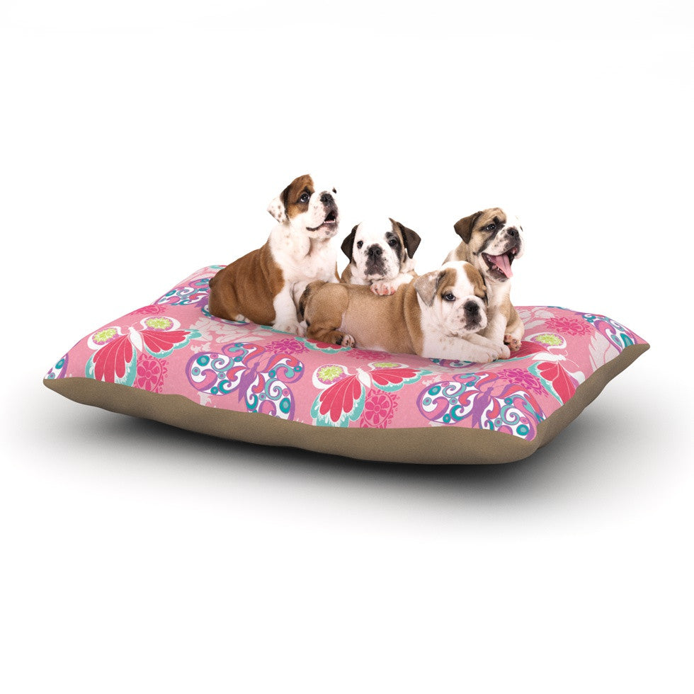 "Anneline Sophia ""Baroque Butterflies"" Dog Bed - KESS InHouse  - 1"