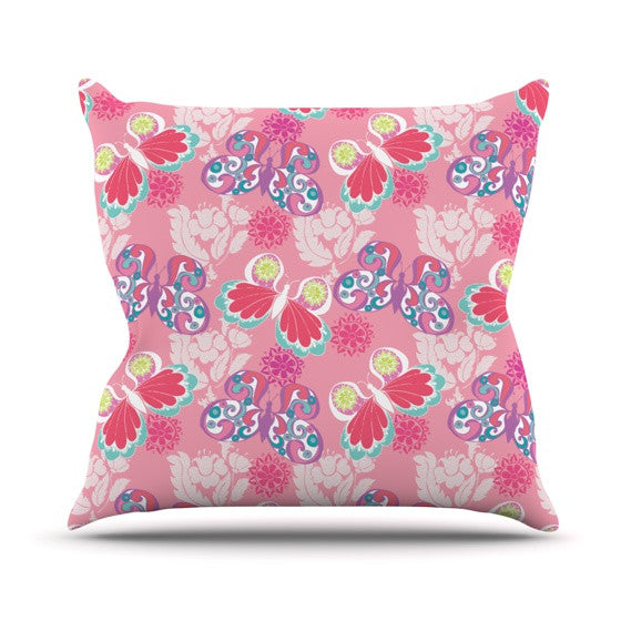 "Anneline Sophia ""Baroque Butterflies"" Throw Pillow - KESS InHouse  - 1"