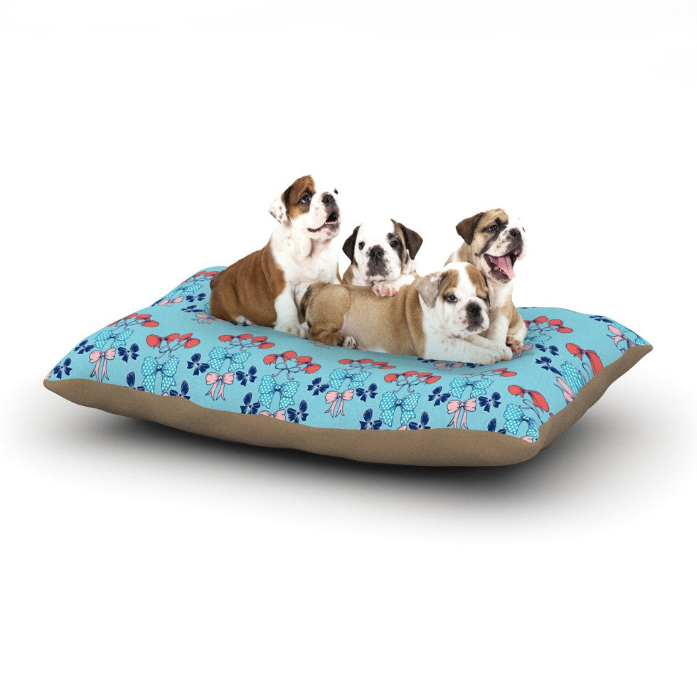"Anneline Sophia ""Bows"" Dog Bed - KESS InHouse  - 1"