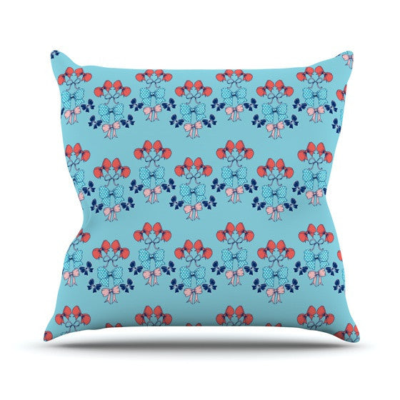 "Anneline Sophia ""Bows"" Outdoor Throw Pillow - KESS InHouse  - 1"