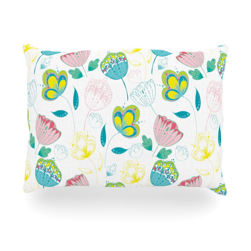 "Anneline Sophia ""Indie Floral"" Oblong Pillow - KESS InHouse"