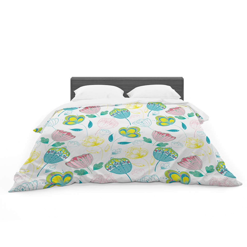 "Anneline Sophia ""Indie Floral"" Featherweight Duvet Cover"