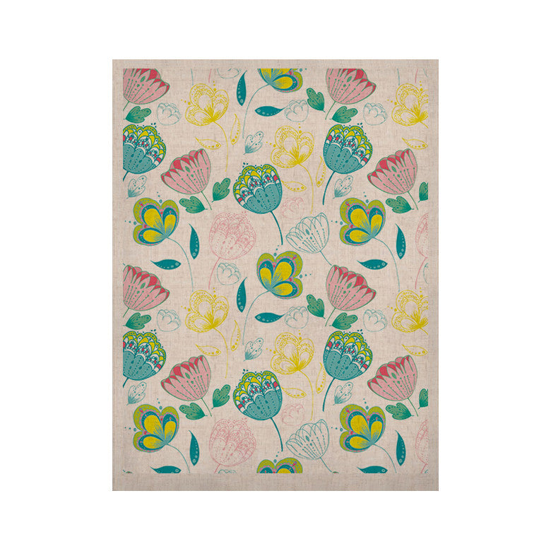 "Anneline Sophia ""Indie Floral"" KESS Naturals Canvas (Frame not Included) - KESS InHouse  - 1"
