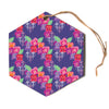 "Anneline Sophia ""Beautifully Boho"" Purple Hexagon Holiday Ornament"
